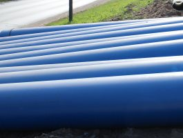 Outdoor water supply and sewage systems and ductile cast iron